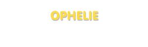 Der Vorname Ophelie
