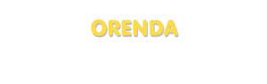 Der Vorname Orenda