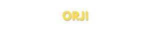 Der Vorname Orji