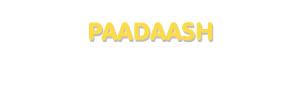 Der Vorname Paadaash