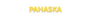 Der Vorname Pahaska