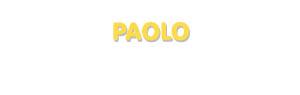 Der Vorname Paolo