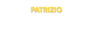 Der Vorname Patrizio