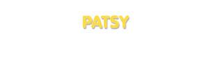 Der Vorname Patsy