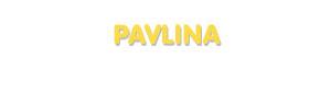 Der Vorname Pavlina