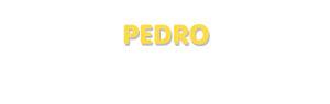 Der Vorname Pedro