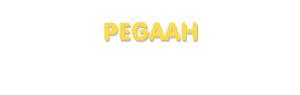 Der Vorname Pegaah