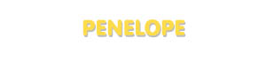 Der Vorname Penelope