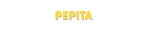 Der Vorname Pepita