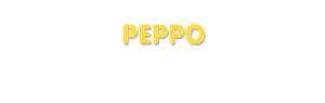 Der Vorname Peppo