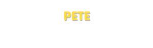 Der Vorname Pete