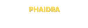 Der Vorname Phaidra