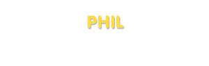Der Vorname Phil
