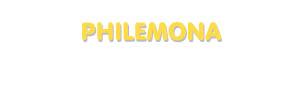 Der Vorname Philemona