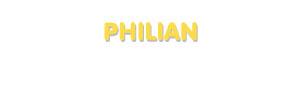 Der Vorname Philian