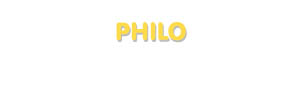 Der Vorname Philo