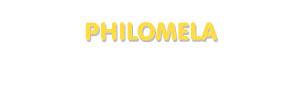 Der Vorname Philomela