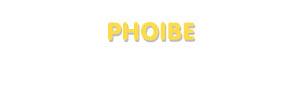 Der Vorname Phoibe