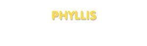 Der Vorname Phyllis