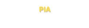Der Vorname Pia