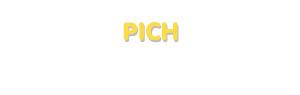 Der Vorname Pich