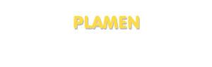 Der Vorname Plamen
