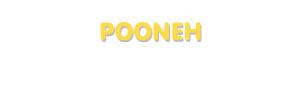 Der Vorname Pooneh