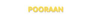 Der Vorname Pooraan