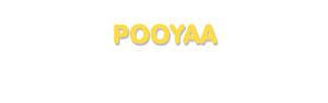 Der Vorname Pooyaa