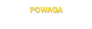 Der Vorname Powaqa
