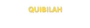Der Vorname Quibilah