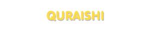 Der Vorname Quraishi