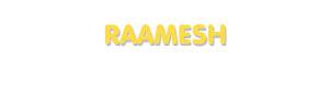 Der Vorname Raamesh