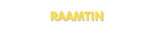 Der Vorname Raamtin