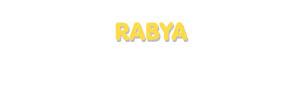Der Vorname Rabya