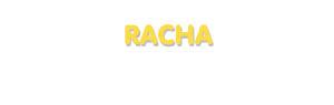 Der Vorname Racha
