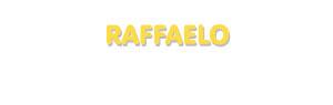 Der Vorname Raffaelo