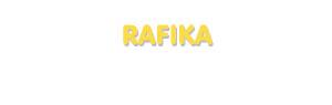 Der Vorname Rafika