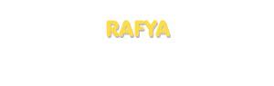 Der Vorname Rafya