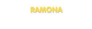 Der Vorname Ramona