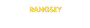 Der Vorname Rangsey
