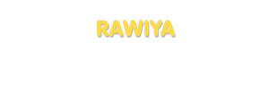 Der Vorname Rawiya