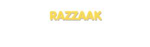Der Vorname Razzaak