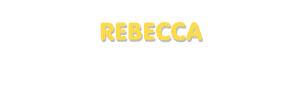 Der Vorname Rebecca