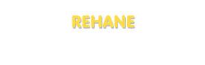 Der Vorname Rehane