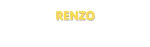 Der Vorname Renzo