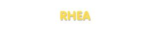 Der Vorname Rhea