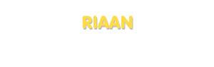 Der Vorname Riaan