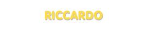 Der Vorname Riccardo