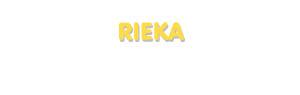 Der Vorname Rieka